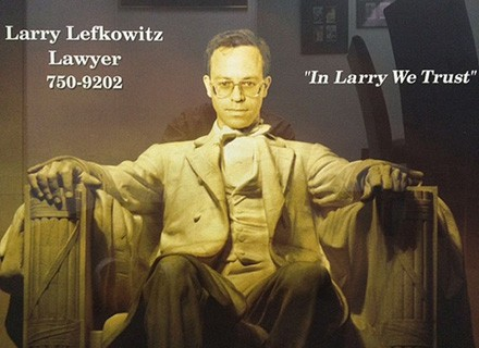 Reasonably Priced Philadelphia Lawyer Larry Lefkowitz Making A Difference!